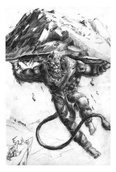 Sketch Hanuman by toonrama.deviantart.com on @deviantART