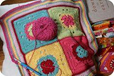 Girls Wear Blue Too: Colourful Crochet cushion cover