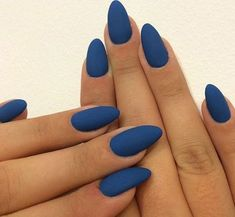 2014 Nail Trend: Matte Nails Blue Matte Stiletto Nails I like matte nails in theory, but they never look as good on my nails.Blue Matte Stiletto Nails I like matte nails in theory, but they never look as good on my nails. Matte Stiletto Nails, Matte Nail Polish, Blue Matte Nails, Matte Black, Coffin Nails, Acrylic Nails Almond Matte, Gel Nail, Uv Gel, Dark Blue Nails