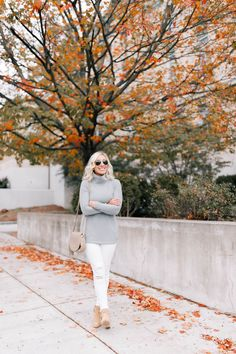 Cozy Fleece Look for Fall | Lemon Stripes