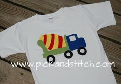 Cement Mixer.  Comes in Bean Stitch and Zig Zag.  5x7, 6x10, 8x12