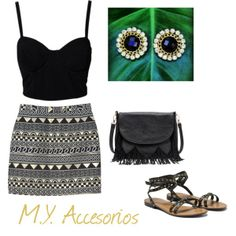"""Summer night"" by mariantyagua on Polyvore"
