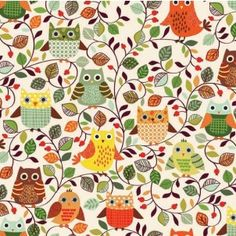 http://www.plushaddict.co.uk/all-fabric/quilting-weight-cottons/by-collection/makower-forest-friends/makower-forest-friends-owls-cream.html Makower Forest Friends Owls Cream Cut Length