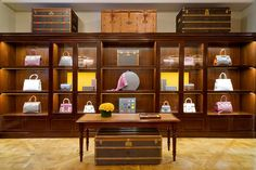 nyc 2015 Goyard set up its first New York shop in a stately townhouse on East 63rd Street that once housed Charlotte Moss's beloved boutique. With parquet floors, brass-trimmed mahogany and glass cabinets, and archival Braquenié carpeting, the space maintains the feel of Goyard's original 19th-century shop in Paris.