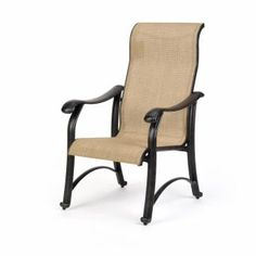 Venice Collection Sling Patio Dining Arm Chair - Patio Chairs Caluco