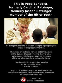 The catholic church doesn't care about your children. They just want your money, power, and control.