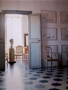 Cy Twombly's home, Vogue, 1966