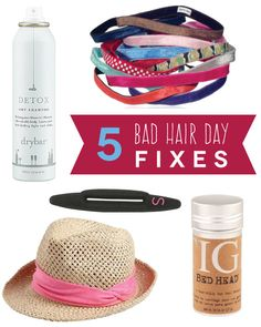 5 quick and easy bad hair day fixes!