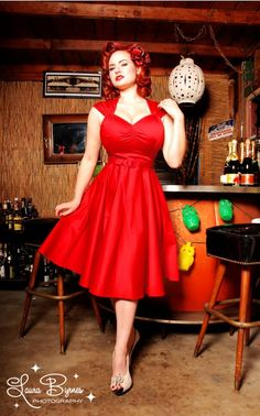 Inspired by vintage swing dresses, but feeling totally modern, the Heidi continues to be one of our favorite styles with its angular neckline, absurdly flattering bust, and full swing skirt. The high quality stretch cotton sateen is a pleasure to wear and accentuates all your delicious curves. - See more at: http://www.pinupgirlclothing.com/heidi-dress-red.html#sthash.hT02ZU2r.dpuf