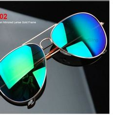 Women's frog mirror aviator sunglasses