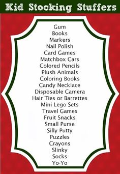 Stocking Stuffer Ideas for Kids (125+ Total Ideas for All Ages) Always looking for good inexpensive stocking stuffers. Sadly I normally give them candy and a toothbrush.