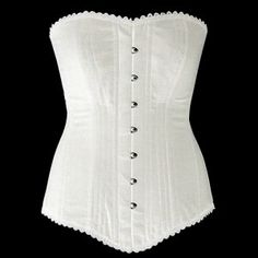 white cotton wedding corset