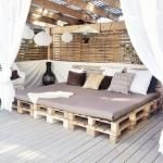 Ideas de decoración con pallets: terraza