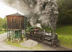 RailPictures.Net Photo: WM 6 Cass Scenic Railroad Shay at Cass, West Virginia by Walter Scriptunas II - www.scriptunasimages.com