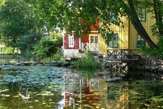 Norrtalje, Sweden - one of my favourite places in the world. Lovely paths to walk by the creek