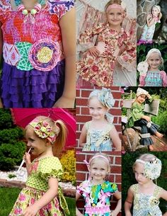 A fun pack of all sorts of fabrics flowers, sashes, headbands, a kerchief and corset sash, so many options in one little pattern to spice up all your Create kids couture outfits! A Boutique, Boutique Clothing, Colored Pants Outfits, Create Kids Couture, Couture Outfits, Sewing For Kids, Fabric Flowers, Diy Clothes, Different Styles