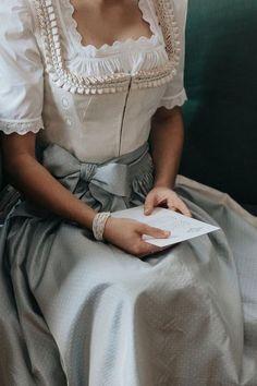 Dirndl bride - New Sites Vintage Outfits, Vintage Dresses, Victorian Fashion, Vintage Fashion, Princess Aesthetic, Looks Vintage, Costume Design, Ideias Fashion, Dress Up