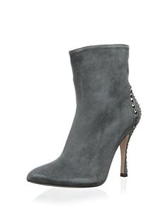 www.myhabit.com  Sleek suede side zip gets an edgy boost courtesy of a heavily studded heel