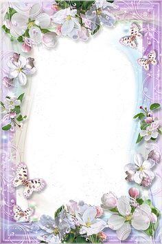 Beautiful Flowers Transparent Frame