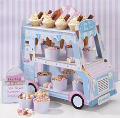 FluffyParty: Ice Cream Van Party Serving Stand Meri Meri