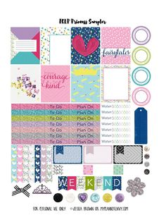 Princess Sampler - Free Planner Printable