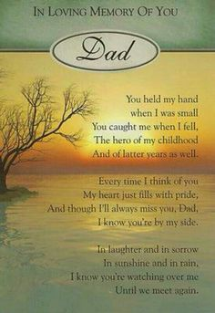 In loving memory of dad, gone but not forgotten.