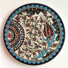 Floral Ceramic Trivet Iznik design - Sophie's Bazaar - 1