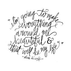 Hand Lettered Quotes & Other Inspirational Things :: This is Glamorous