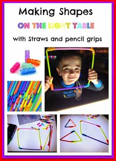 SHAPES: Straws and pencil grips