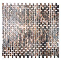 Mosaikfliese Goldstar GM GS 503050 x cm, Braun, Glänzend) Bauhaus, Mosaic Tiles, How To Dry Basil, Design, Bathroom, Products, Mosaics, Cleaning, Get Tan