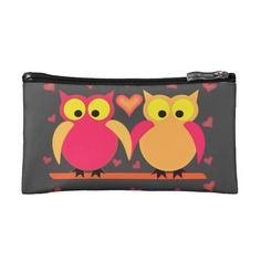 Owls in Love Cosmetic Bags