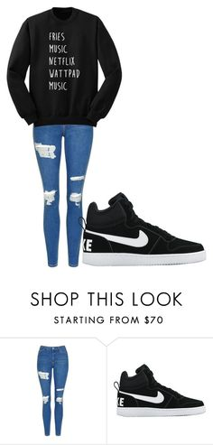 """Untitled #182"" by cruciangyul on Polyvore featuring Topshop and NIKE"