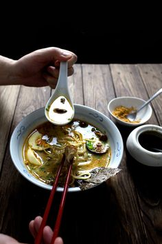 The recipe, in the realm of Japanese ramen, is relatively easy and foolproof, but there are still a few point to I want to stress on. First note*: The chicken stock. You can use homemade (like mine with this recipe) or store-bough chicken stock, but make sure that it's unsalted or minimally...