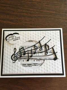 Simple card for a budding musician