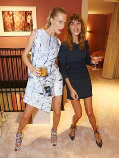 Poppy Delevingne and Alexa Chung - M'oda Operandi launch party in London. (September 2014)