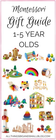 Montessori Gift Guide | Montessori Toys for 1 to 4 year olds | Beautiful toys for kids from All Things Big and Small - Montessori Gifts that Kids AND Parents Will Love by popular mom blogger DIY Decor Mom