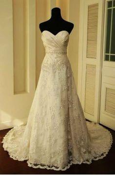 Vintage Lace Wedding Dress A LINE Bridal Gown wedding dresses