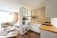 28m2-es kis lakótelepi panelllakás berendezése Ikea bútorokkal, alacsony költségvetéssel   RU.LES Architects   fotók: Peter Čintalan