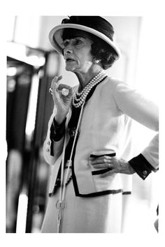 """In order to be irreplaceable one must always be different.""   [i]Portrait of Mademoiselle Chanel by Douglas Kirkland   Circa 1960 [/i]"
