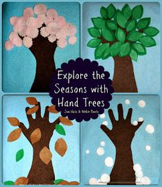 Sun Hats & Wellie Boots: Felt Hand Trees - Exploring the 4 Seasons