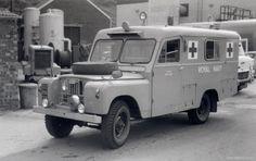 Land Rover 107 long body Serie II Ambulance. Royal Navy.