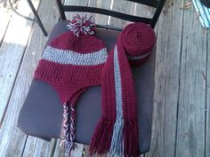Hat and Scarf Set by KendasKrochet on Etsy, $15.00