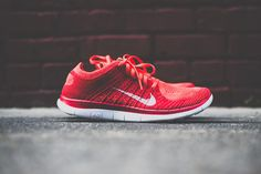 Nike Free Flyknit 4.0 - Bright Crimson - Sneaker Politics