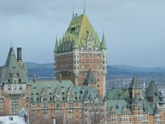 01- Canada -  Château Frontenac New York Skyline, Cathedral, Canada, Building, Travel, Futurism, Construction, Trips, Traveling