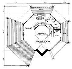 Octagon layout calculator for carpentry projects diy for Octagon cabin floor plans