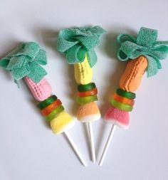 12 Luau Candy Kabobs by SweetsIndeed on Etsy, $24.00