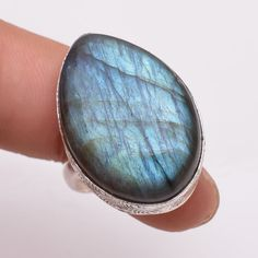 925 Sterling Silver Ring Size US 8, Natural Labradorite Silver Jewelry R2787 #Handmade #Fashion