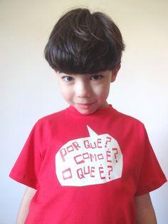 """Camiseta """"Por que?"""" - Pula Saci"""