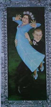 """Beryl Cook (British, 1926–2008) """"The Queen Dancing"""", 1977 ~ This was painted for the Queen's Silver Jubilee"""
