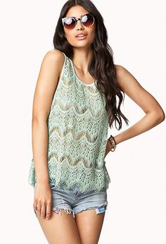 Eyelash Lace Tank | FOREVER21 - 2054577572 possible ACL outfit